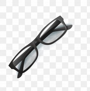 Vector Black Frame Glasses - Goggles Glasses Near-sightedness PNG