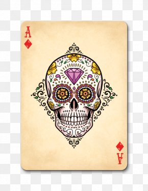 Ace Card - Calavera Bicycle Playing Cards Day Of The Dead Game PNG