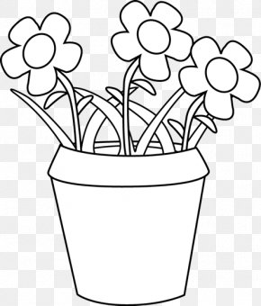 White Pot Cliparts - Flowerpot Houseplant Clip Art PNG