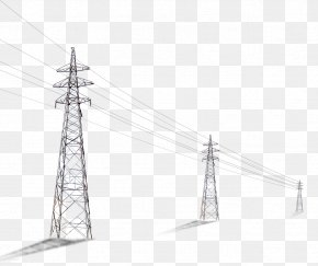 Telephone Pole - Utility Pole Column High Voltage Computer File PNG