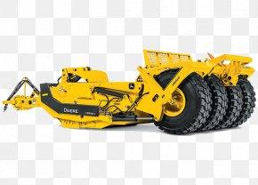 Bulldozer - John Deere Bulldozer Wheel Tractor-scraper Heavy Machinery PNG
