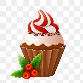 Vector Cupcakes - Christmas Cake Cupcake Lebkuchen PNG