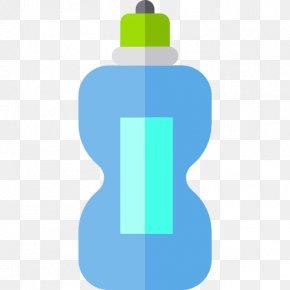 A Blue Bottle - Water Bottle Clip Art PNG