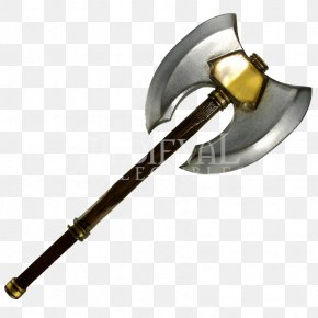 Double Headed Axe Drawing - Larp Axe Battle Axe Knife Live Action Role-playing Game PNG