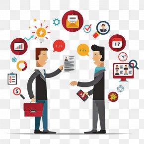Conversation Team - Cartoon Sharing Business Technology Team PNG