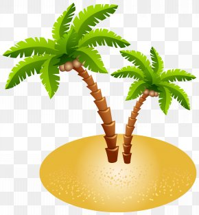 Palms And Sand Transparent Clip Art Image - Island Clip Art PNG