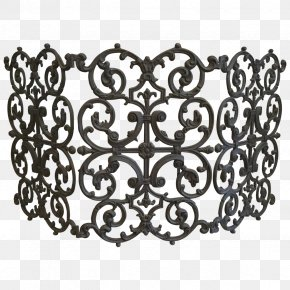 Traditional - Fire Screen Cast Iron Living Room Wrought Iron Fireplace PNG