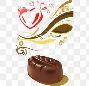 Cartoon Painted Dark Chocolate Cake Vector - Chocolate Cake Praline Black Forest Gateau PNG