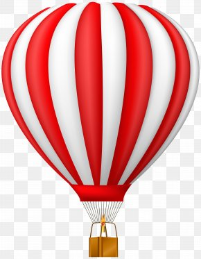 Red Hot Air Balloon Transparent Clip Art - Hot Air Balloon Clip Art PNG