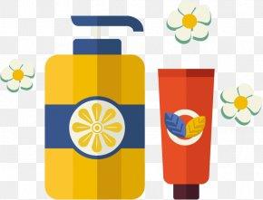 Vector Shower Gel Cleanser - Lotion Shower Gel Shampoo Bathing PNG