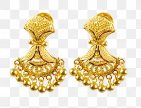 Jewellery - Earring Jewellery Gold Jewelry Design Bride PNG