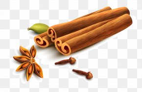 Vector Hand Painted Cinnamon And Star Anise - Cinnamon Star Anise Sichuan Pepper PNG
