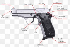 Weapon - Trigger Firearm TİSAŞ Zigana Pistol PNG