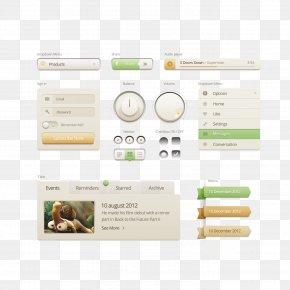 Simple Web UI Design Package - User Interface Design Slider PNG