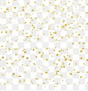 Floating Gold Foil Particles - Gold Leaf PNG
