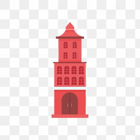 Red Church Building Model - Church Illustration PNG