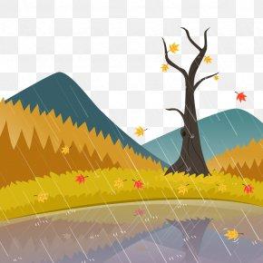 Vector Autumn Rain - Rain Euclidean Vector PNG