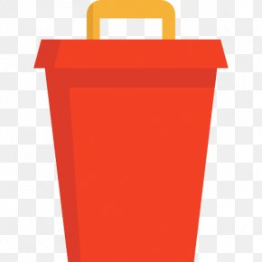 A Red Trash Can - Bucket Icon PNG