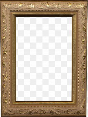 Gold Frame - Picture Frame Digital Scrapbooking PNG