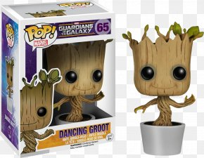 Dancing Groot Action & Toy Figures Funko Pop Marvel Guardians Of The Galaxy Rocket Raccoon Vinyl BobbleHead FigureToy - Funko Pop! Marvel Guardians Of The Galaxy PNG