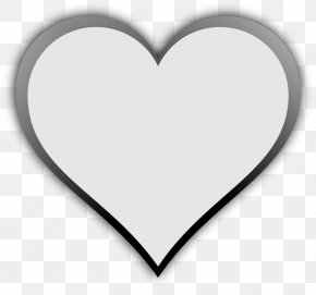Heart Playing Cards - Black And White Heart Font PNG