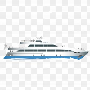 Vector Exquisite Ship - Ship Luxury Yacht PNG