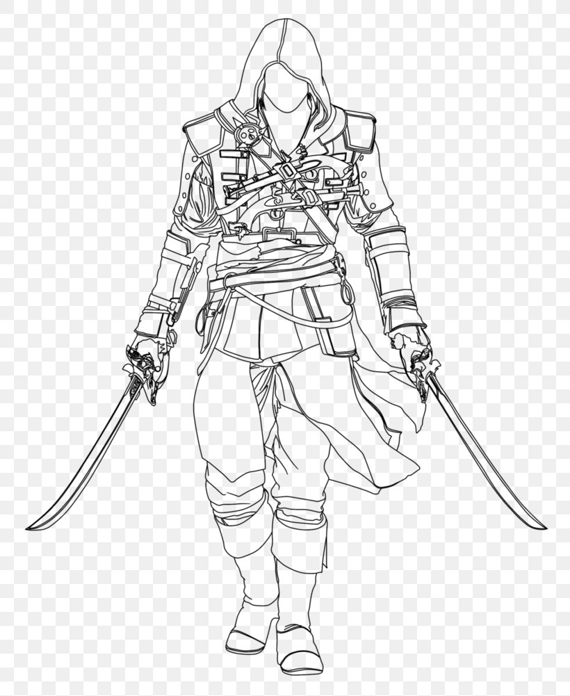 Assassin S Creed Iv Black Flag Edward Kenway Drawing Line Art Sketch Png 798x1001px Edward Kenway Art