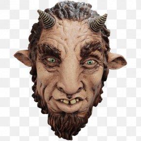 Goat - Minotaur Satyr Faun Latex Mask Goat PNG