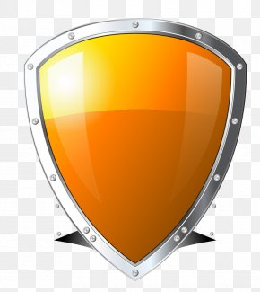Orange Shield - Shield Computer Security Touchscreen PNG