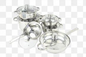 Steel Pot - Silver Cookware Stock Pots Frying Pan PNG