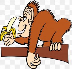 Gorilla - Ape Banana Monkey Clip Art PNG