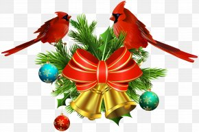 Christmas Bells And Birds Decor Transparent Clip Art - Christmas Ornament Christmas Decoration Tree Clip Art PNG