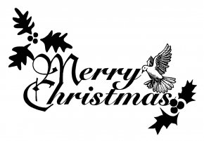 Free Black And White Christmas Clipart - Christmas Religion Clip Art PNG