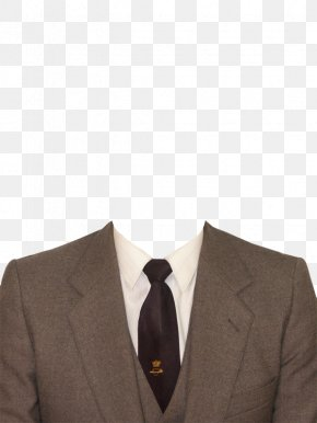 Dark Brown Suit And Tie - Tuxedo Suit Formal Wear Clothing PNG