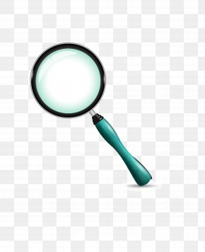 Vector Hand-painted Magnifying Glass - Magnifying Glass Icon PNG