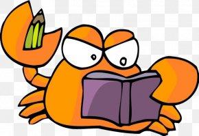 Crab Feet For Reading - Yangcheng Lake Crab Cartoon Raster Graphics PNG