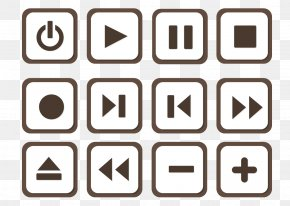 Play The Pause Button - Button Media Player Icon PNG