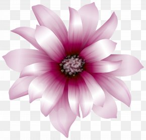 Large Pink Flower Transparent Clip Art Image - Pink Flowers Clip Art PNG