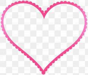 Pink Heart Border Frame Transparent Clip Art - Picture Frame Heart PNG
