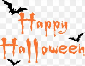 Happy Halloween Text Image - It Halloween Costume Banner Clip Art PNG