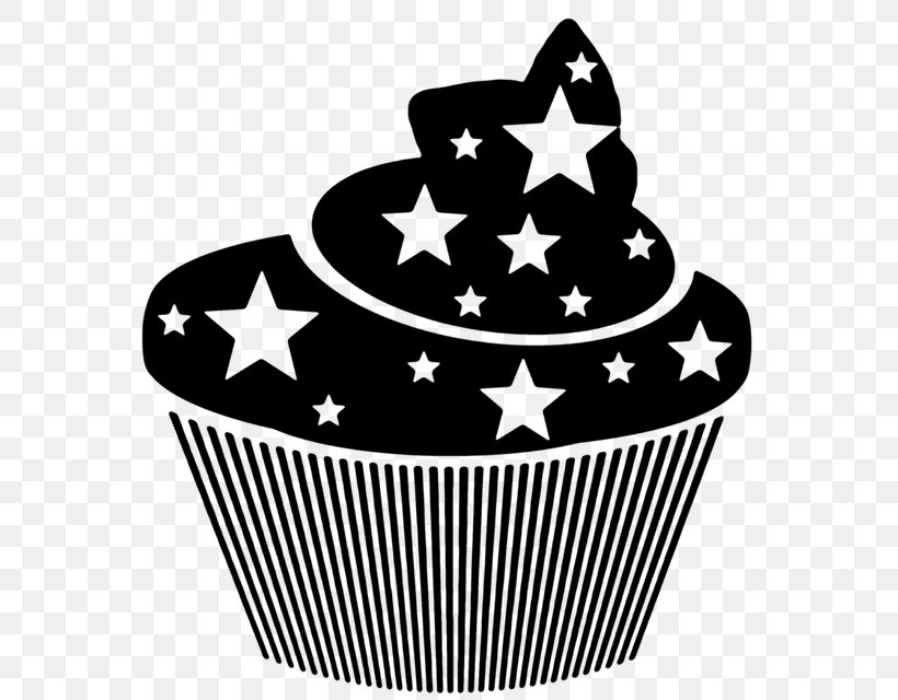 Muffin Cupcake T-shirt Dessert, PNG, 588x640px, Muffin, Baking Cup, Black And White, Cake, Cupcake Download Free