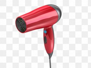 Red Hair Dryer - GrabCAD STL 3D Modeling Computer-aided Design 3D Computer Graphics PNG