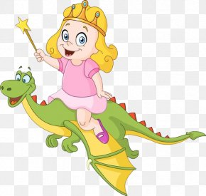 A Little Princess Riding On A Dinosaur - Royalty-free Stock Photography Clip Art PNG