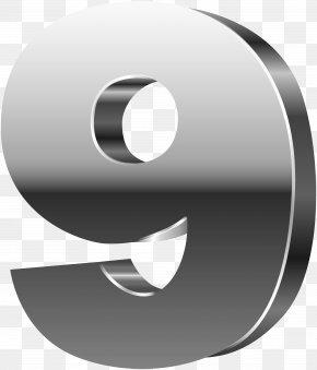 Number Nine 3D Silver Clip Art Image - Graphics Clip Art PNG