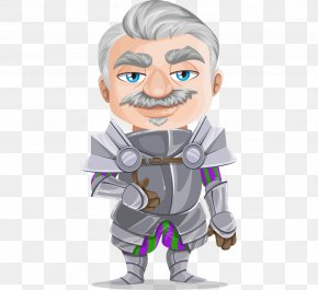 Hand-painted Cartoon Elderly Knight - Knight Free Content Public Domain Clip Art PNG