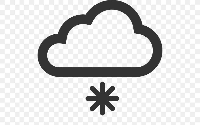 Snowflake Icon Design, PNG, 512x512px, Snowflake, Black And White, Cloud, Heart, Icon Design Download Free