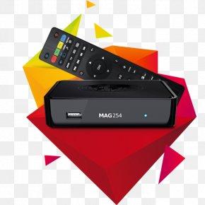 Noir IPTV Over-the-top Media Services Wi-FiAbc Supply Wisconsin 250 - Set-top Box Infomir MAG254 Récepteur Multimédia Numérique PNG