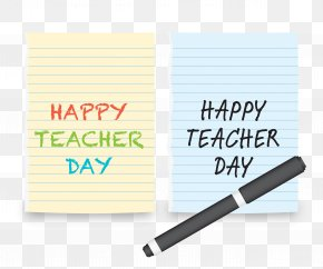 Torn Notebook Page - Teachers Day Template PNG