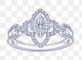 Jewelry - Jewellery Rose Window Wedding Ring Diamond PNG