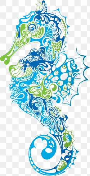 Seahorse Cliparts - Lined Seahorse Clip Art PNG